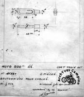 Nipple for brake rod and cable. Vintage bike brake part.
