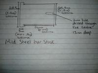 Turned bar stock. Mild steel
