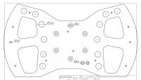 sim racing wheel for direct drive system
