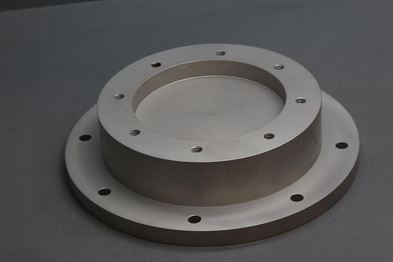 I off aluminium circular base plate adapter