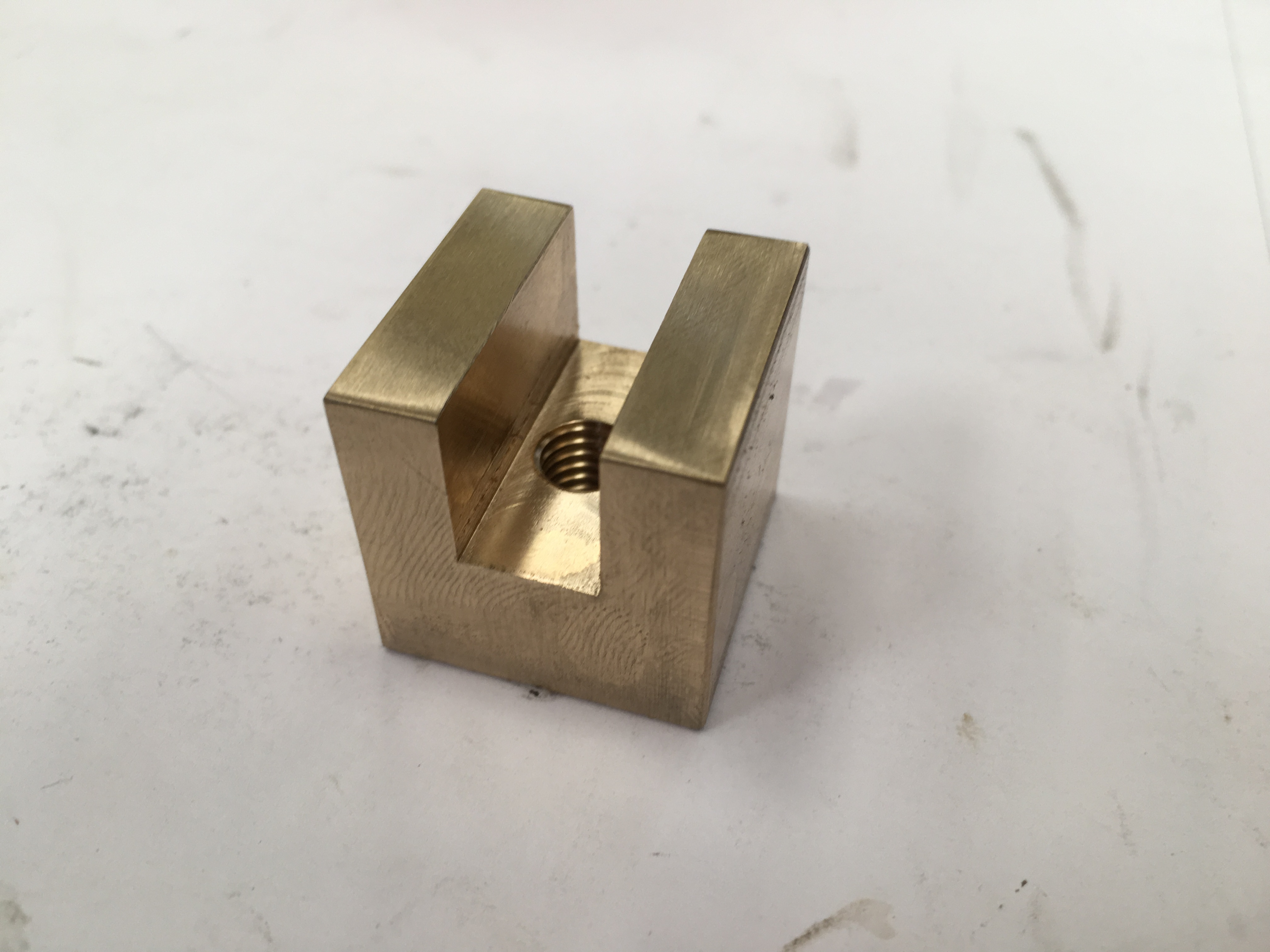 Four Brass or UHMWPE Sliders for Narrowboat Hatch