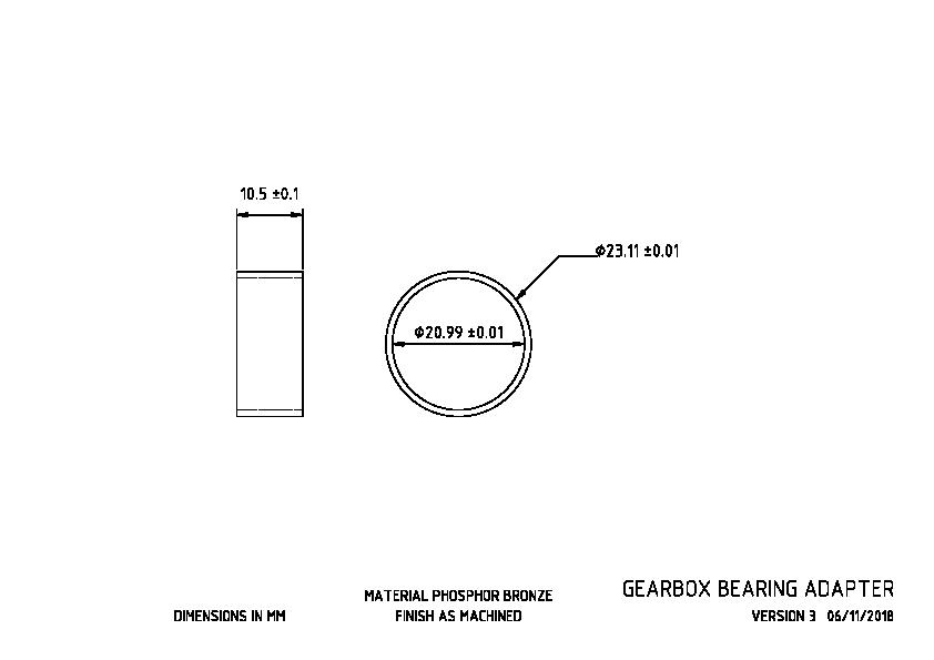 Gearbox Bearing Adapter