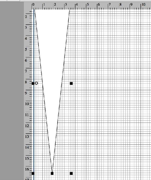 Triangle template in aluminium for cutting veneers