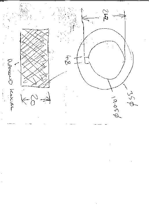 1x Knurled steel bending keyed wheel