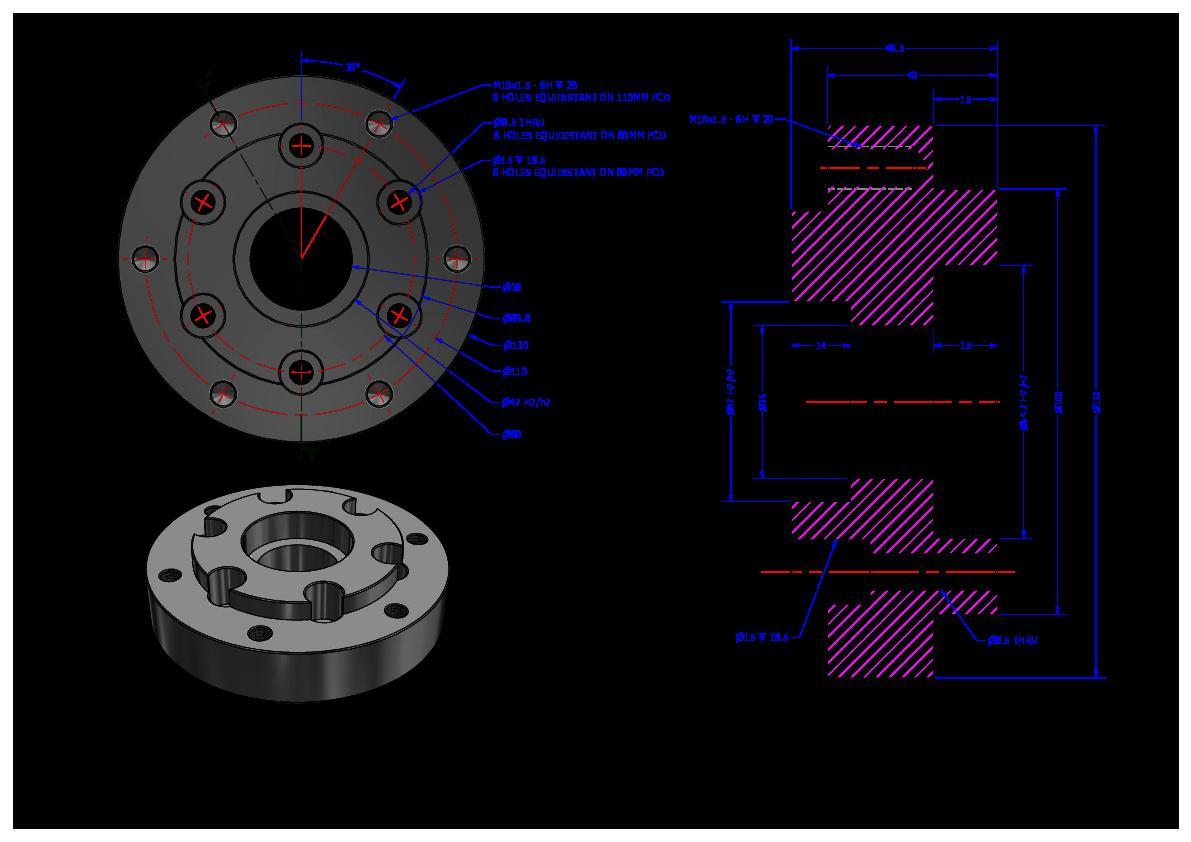 Chainwheel adaptor