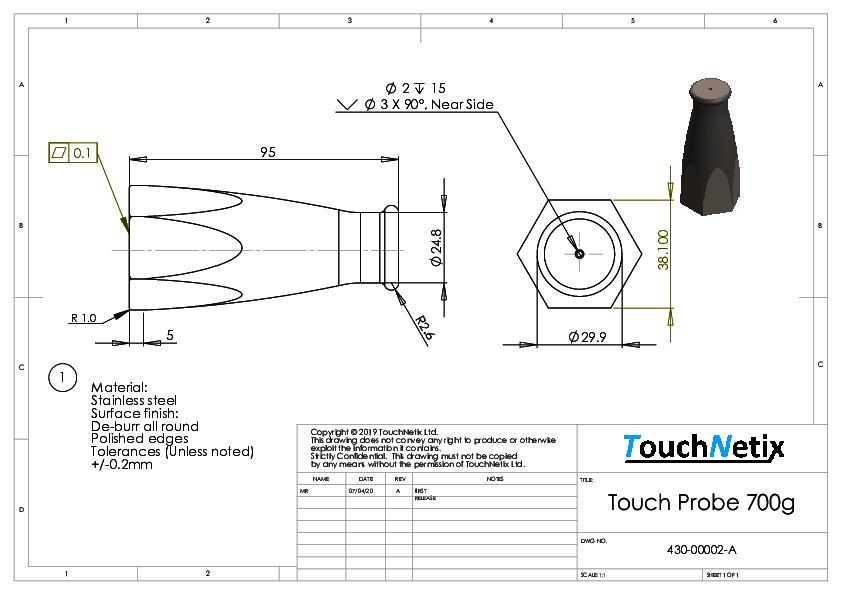 Touch Probe 700g